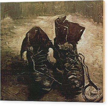 Van Gogh Boots 1886 Wood Print by Granger