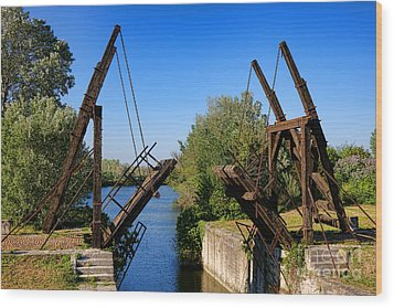 Wood Print featuring the photograph Van Gogh Bridge In Arles by Olivier Le Queinec