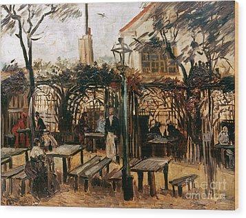 Van Gogh: Guingette, 1886 Wood Print by Granger