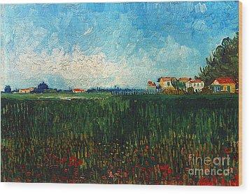 Van Gogh: Landscape, 1888 Wood Print by Granger