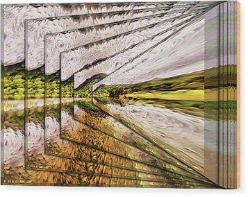Van Gogh Perspective Wood Print by Mario Carini