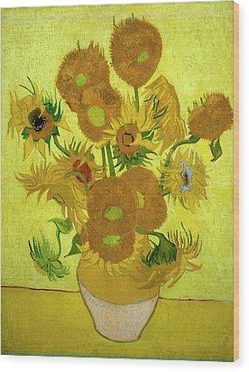 Van Gogh Sunflowers Wood Print by Vincent Van Gogh