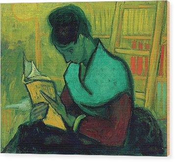 Van Gogh The Novel Reader Wood Print by Vincent Van Gogh