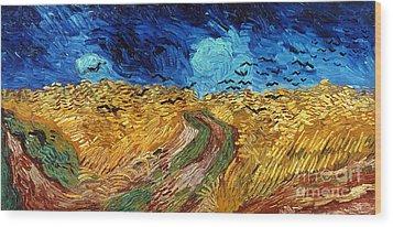 Van Gogh: Wheatfield, 1890 Wood Print by Granger