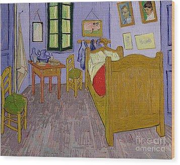 Van Goghs Bedroom At Arles Wood Print by Vincent Van Gogh