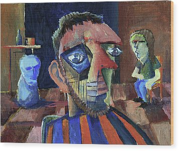 Van Gogh's Therapy Session Wood Print by Paul  Van Atta