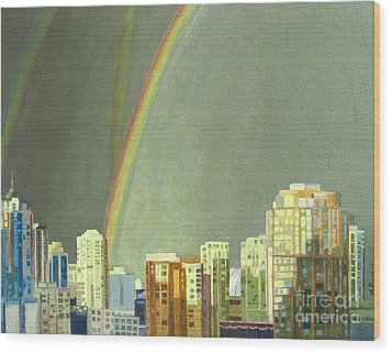 Vancouver Bc Wood Print by Lynne Reichhart