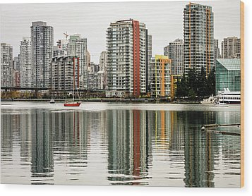 Vancouver Bc Sky Line Wood Print