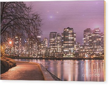 Wood Print featuring the photograph Vancouver, Canada by Juli Scalzi