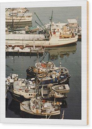 Wood Print featuring the photograph Vancouver Harbor Fishin Fleet by Jack Pumphrey