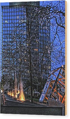 Vancouver - Magic Of Light And Water No 1 Wood Print by Ben and Raisa Gertsberg