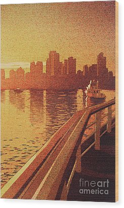 Wood Print featuring the painting Vancouver Morning- Bc by Ryan Fox