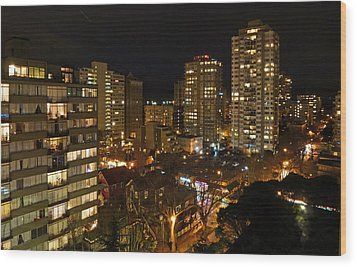 Vancouver Skyline Wood Print by Nancy Harrison