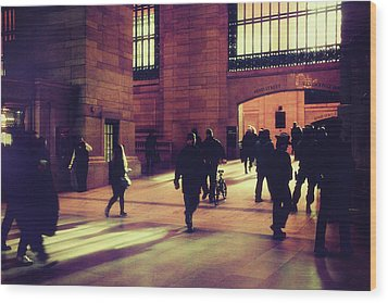 Wood Print featuring the photograph Grand Central Rush by Jessica Jenney