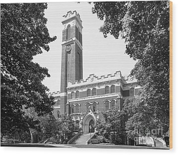 Vanderbilt University Kirkland Hall Wood Print by University Icons