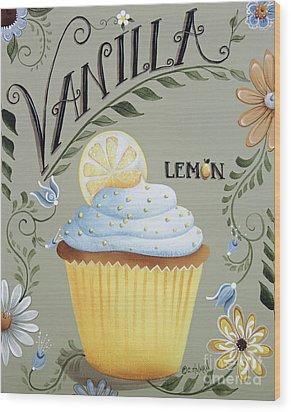 Vanilla Lemon Cupcake Wood Print by Catherine Holman