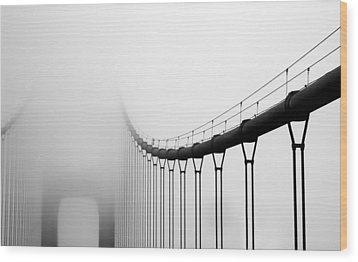 Vanishing Bridge Wood Print