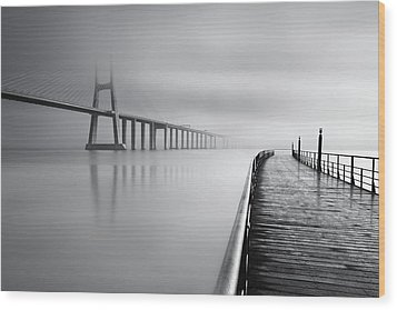 Wood Print featuring the photograph Vanishing by Jorge Maia