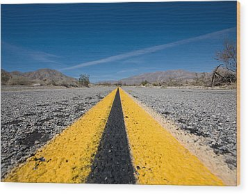 Vanishing Point Wood Print by Peter Tellone