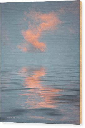 Vapor 2 Wood Print by Jerry McElroy