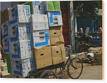 Varanasi. The Computer Age Wood Print