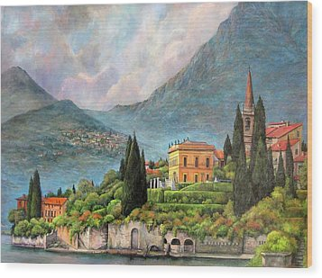 Varenna Italy Wood Print by Donna Tucker