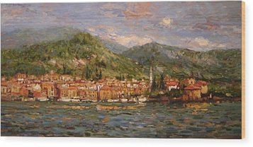 Varenna Italy Wood Print by R W Goetting