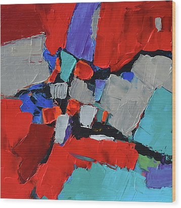 Wood Print featuring the painting Variation by Elise Palmigiani