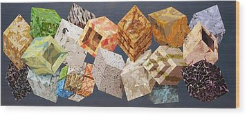 Variations In Stone Wood Print by M Jaquis