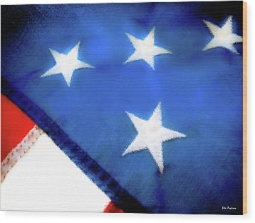 Variations On Old Glory No.6 Wood Print