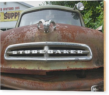 Wood Print featuring the photograph Variegated Studebaker by Joel Deutsch