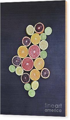 Wood Print featuring the photograph Variety Of Citrus Fruits by Stephanie Frey