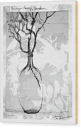 Vase Wood Print by Barbara Andolsek