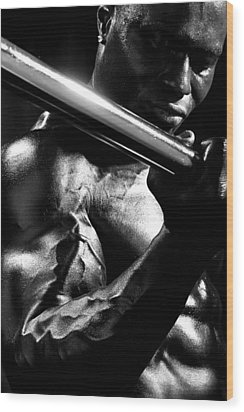 Vascularity Wood Print by Val Black Russian Tourchin