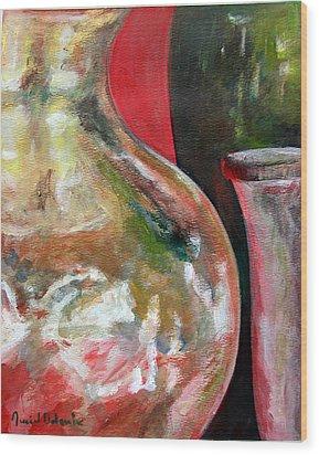 Vase Wood Print by Muriel Dolemieux