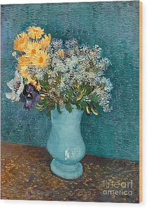 Vase Of Flowers Wood Print by Vincent Van Gogh