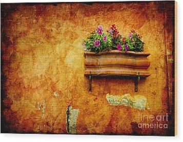 Vase Wood Print by Silvia Ganora