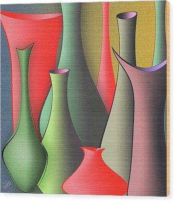 Vases Still Life Wood Print by Ben and Raisa Gertsberg