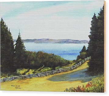 Wood Print featuring the painting Vashon Island by Marti Green