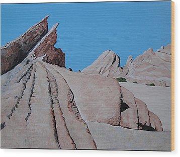 Vasquez Rocks 4 Wood Print by Stephen Ponting