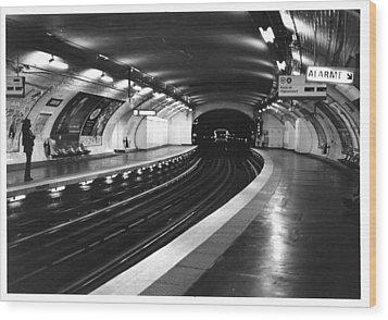 Vavin Station Paris Metro Wood Print by Gordon Lukesh