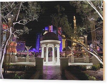 Vegas At Night 2 Wood Print by Patrick  Flynn
