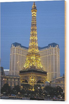 Wood Print featuring the photograph Vegas by Michael Albright