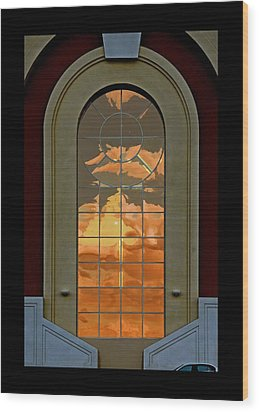 Vegas Sunset Wood Print by James Zuffoletto