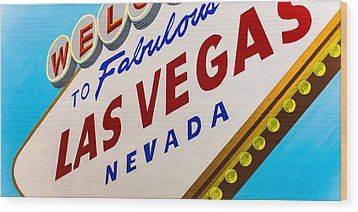 Vegas Tribute Wood Print by Slade Roberts