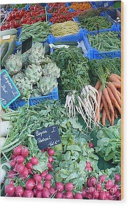 Vegetables At German Market Wood Print by Carol Groenen