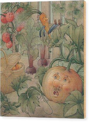 Vegetables Wood Print by Kestutis Kasparavicius