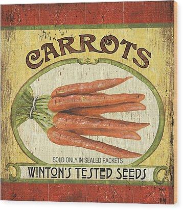 Veggie Seed Pack 4 Wood Print by Debbie DeWitt