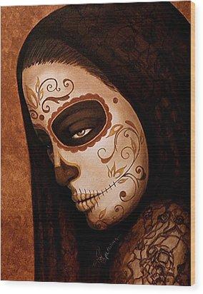 Velo De La Tristeza Wood Print