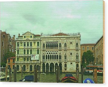 Wood Print featuring the photograph Venetian Aternoon by Anne Kotan